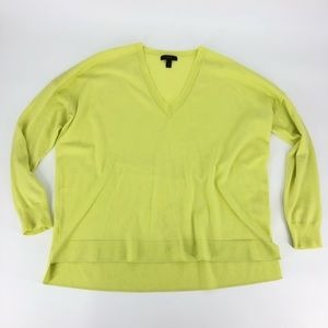 J Crew Merino Wool Boyfriend Fit V Neck Sweater